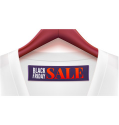 advertising of black friday sales clothing with vector image