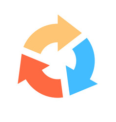 arrow sign reload icon refresh symbol vector image