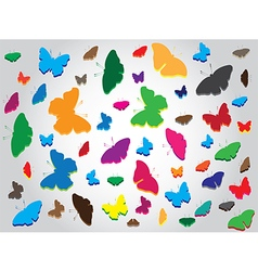 Butterflies abstract background vector image vector image