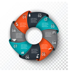 circle infographic vector image vector image