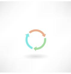 Circular arrow icon vector