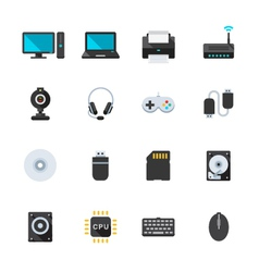 Computer and and computer accessories vector