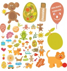 cute signs vector image vector image