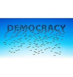 Democracy vector