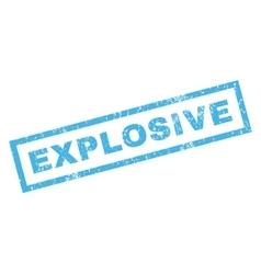 Explosive rubber stamp vector