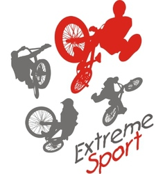 Extreme sport bmx rider - vector