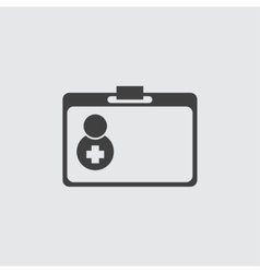 First aid doctor bag icon vector