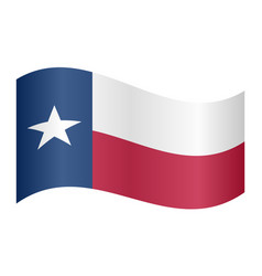 Flag of texas waving on white background vector