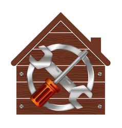 home repair symbol for business vector image