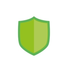 Isolated security badge vector