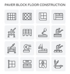 Paver block icon vector