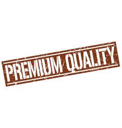Premium quality square grunge stamp vector