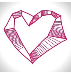 Rocked Heart vector image