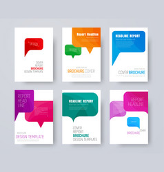 Set of a4 covers with multi-colored bubbles vector