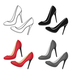 shoes with stiletto heel icon in cartoon style vector image vector image