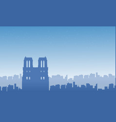 Silhouette of paris city landscape vector