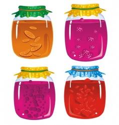 tasty jam vector image vector image
