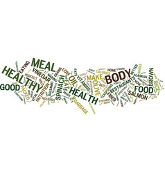 The perfect meal to boost your health text vector