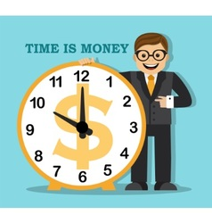 time is money Do not waste your time earn money vector image vector image