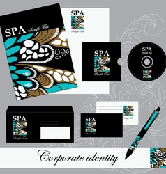 Beautiful corporate set vector