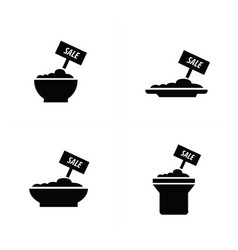 sale foods icon vector image
