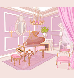 Princess music room vector