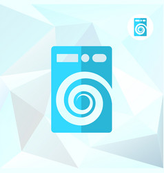 Washer machine logo on mosaic background vector