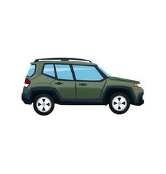 Green suv car vehicle luxury compact image vector