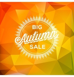 Autumn Sale poster polygonal background vector image