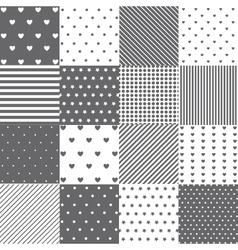 Seamless pattern set vector image