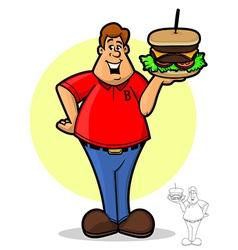 Burger guy vector
