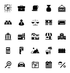 Mortgage and home loan icons on white background vector