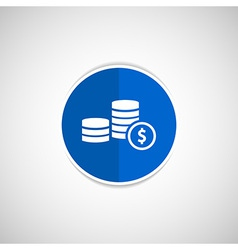 icon coin white business wealth finance vector image