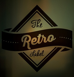 Retro and vintage label vector