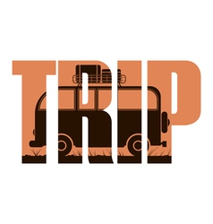 Trip sign vector
