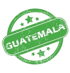 Guatemala green stamp vector
