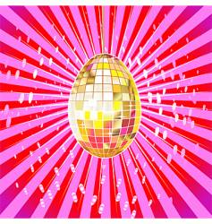 Disco egg vector