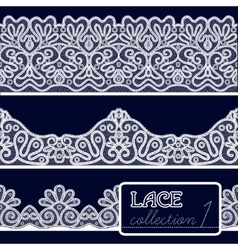 Lace patterns set vector