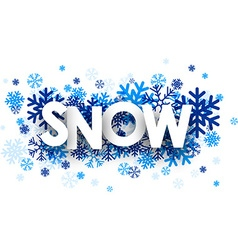 Snow sign vector