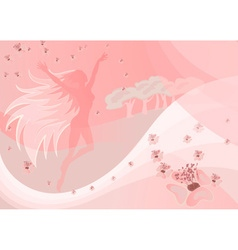 Whimsical fairy backdrop vector