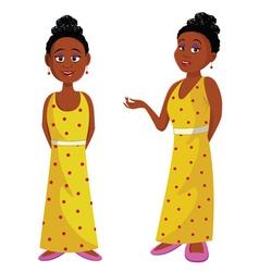 African beauty queen vector image