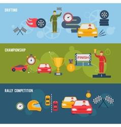 Auto sport banner vector