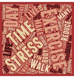 Break a sweat to break your stress text background vector