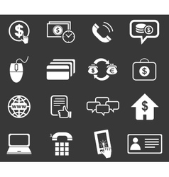 Finance icon set 5 monochrome vector