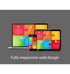 Fully responsive web design concept vector