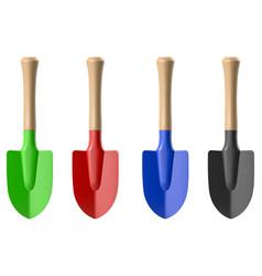 gardening shovel vector image vector image
