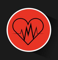 Heart cardio isolated icon vector