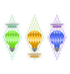 lightbulb logo creativity and idea vector image