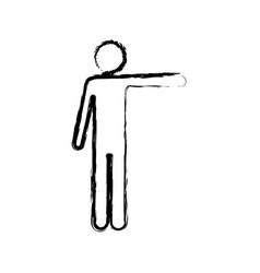 Monochrome blurred silhouette of pictogram man vector