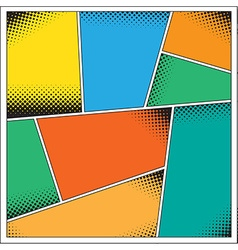 Pop-Art comics background vector image